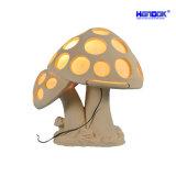 Escultura em arenito Lanterna de iluminação de forma de cogumelo com alto-falante