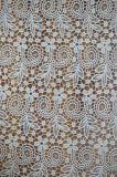 Tela material do laço do poliéster com bordado