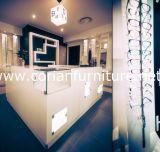 Armário de exibição de produtos de cosméticos de superfície sólida acrílica translúcida Corian