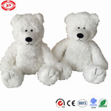 Sitting Big Plush Whodunnit Bear with Embroidery Teddy Toy
