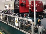 自動鋼管ミルラインか溶接線