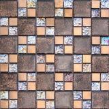 Material de construção Mosaico de vidro de folha de ouro (VMW3204, 300X300mm)