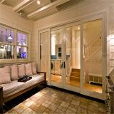 De Aluminio de moderno diseño de la puerta de vidrio puerta plegable de aluminio con pintura negra