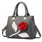 긴 결박 Sy8406를 가진 디자인 여자 핸드백 로즈 꽃 형식 Stachel 대중적인 부대