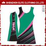 2017 reizvolles preiswertes Frauen-Sublimation-Großhandelsdruckennach maß Netball-Kleid (ELTNBJ-48)
