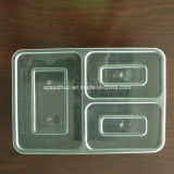 Contenitore di alimento di plastica a gettare rettangolare trasparente dei 4 scompartimenti