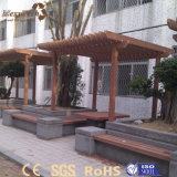 Pergola en plastique facilement assemblé en bois WPC 3X4 de jardin extérieur