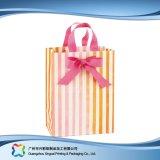 Sac de transporteur de empaquetage estampé de papier pour les vêtements de cadeau d'achats (XC-bgg-021)