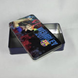 Juego de encargo Retangular caja de la lata, juego de cartas caja de la lata
