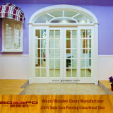 Het witte Houten Frame Aangemaakte Ontwerp van de Deur van de Keuken van het Glas (GSP3-035)