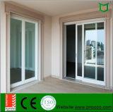 Раздвижные двери PVC Horizonta дверей входа стеклоткани селитебного здания застекленные двойником алюминиевые с As2047