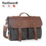 Полотно из натуральной кожи модным дизайнером ноутбук сумки (RS- 1023)