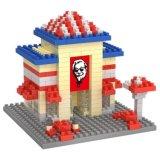 14889313-Micro Kit bloque temático de la serie restaurante módulos previstos educativo creativo de bricolaje juguete 230pcs - Kfc