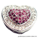 розовый шкентель Gemstone 3A с сердцем Spaped (P4761)