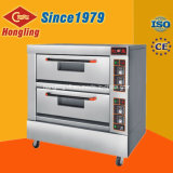 Das bandejas dobro da plataforma 4 de Hongling anúncio publicitário elétrico do forno de padaria da plataforma