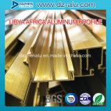 Profil en aluminium pour prix d'usine du marché de l'Afrique du Nord de porte de guichet le bon