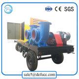 Il grande volume Mixed-Scorre pompa ad acqua diesel centrifuga con il rimorchio