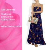 Diseños personalizados impresos digitales Georgette de seda vestidos para damas tejidos