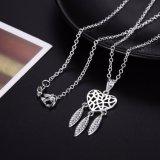 Vorm 925 van het hart de Zilveren Zilveren Juwelen van de Tegenhanger van de Vrouwen van de Halsband