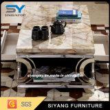 Mobiliário doméstico de aço inoxidável em forma de coração mesa de café
