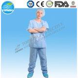 Устранимая Nonwoven медицинская Scrubs костюм, SMS Scrub костюм