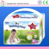 Pañal disponible ultra fino del bebé de la marca de fábrica de la estrella del Q-Bebé XL22 con el protector el escaparse