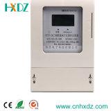 三相前払いされたワット時の電気のメートルLCDの表示