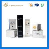 Дешевая коробка печатание полного цвета складчатости косметическая упаковывая для лосьона стороны (с фольгой серебряного логоса горячей)