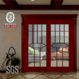 Porte en bois de chambre à coucher en verre de glissement avec le gril (GSP3-021)