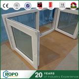 Окно Casement двойной застеклять цвета UPVC/PVC новой конструкции белое