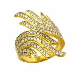 A jóia CZ da multa da prata 925 esterlina embute o anel para o homem