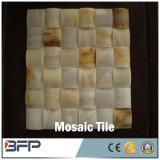 壁および床のためのカスタマイズされた新式の白くか黄色の大理石のモザイク・タイル