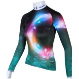 Настраиваемые Magic Circle компонентах темных зеленый женские футболки длинной втулки на открытом воздухе велосипедного спорта футболках NIKEID