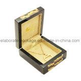 Подгонянная твёрдой древесиной деревянная коробка ювелирных изделий типа коробки упаковки новая