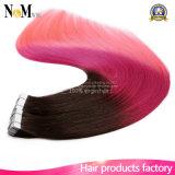 Großhandelsband Haar-Extensions-Haut-Haar in der einschlagRemy Menschenhaar PU-Band-Haar-Extension