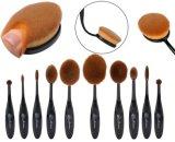Pinceau de maquillage de cosmétiques pour cheveux 10PCS avec emballage personnalisé