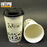 Tazza di caffè calda doppia a gettare