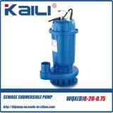 10HP bomba de água submergível da água de esgoto elevada da cabeça WQX
