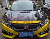 Capa de capota de fibra de carbono para Honda Civic X 10º estilo 2016 Arv