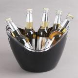 ビールおよび氷のための黒いプラスチックアイスペール