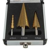 3PCS HSS шаг Ti-Coated сеялки в алюминиевом корпусе