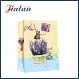 Zoll-4c gedruckte Lavendel, die Einkaufen-Träger-Papier-Geschenk-Beutel packen