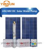 Tiefe Quellwasser-Pumpe Gleichstrom-24V 48V 150W für Solar