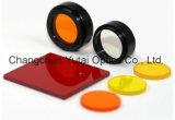 Красный покрашенный оптически фильтр