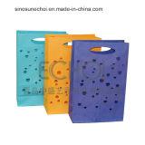 Bolso de compras de papel de la alta calidad con insignia modificada para requisitos particulares
