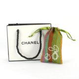 シルクスクリーンのギフトの結婚式のドローストリングの印刷されるリネン袋の習慣(CJB1133)