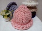 Koreanische reizende Dame-Hand Knitted Kabel-Wolle-Schutzkappen-HutBeanie