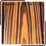 Placage de la cendre EV de chêne rouge de bois d'ébène de zèbre de Sapale de hêtre