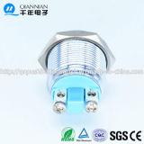 Qn19-LED-B 19mm con l'interruttore di pulsante impermeabile terminale del metallo di Pin della vite capa piana della spia della lampada