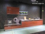 赤く高い光沢のある紫外線直面された食器棚(FY543)